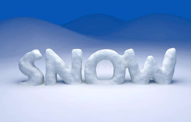 texte de la neige 3D illustration de vecteur