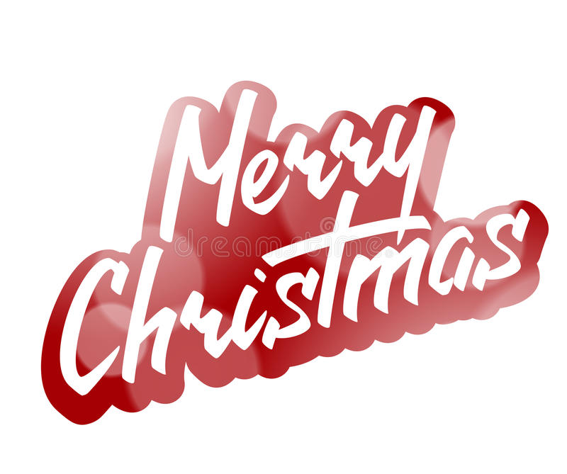 Texte de lettrage de main de Joyeux Noël illustration libre de droits