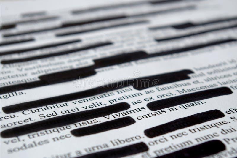 Texte de lorem ipsum qui a été édité photo libre de droits