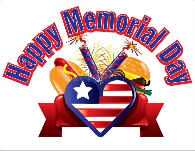 Texte de Memorial Day illustration libre de droits