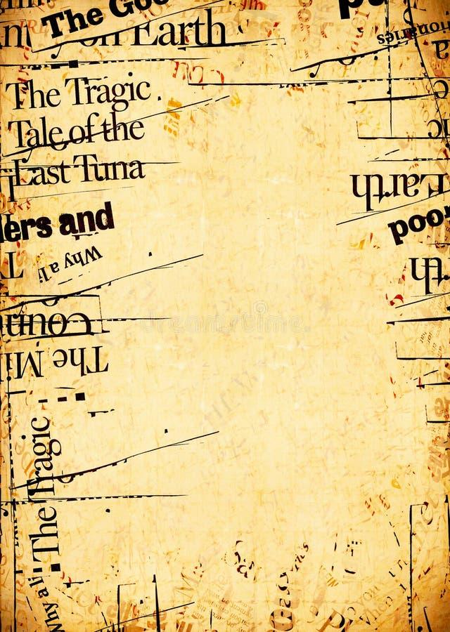 Texte de papier de papier de nouvelles des textes de nouvelles image libre de droits