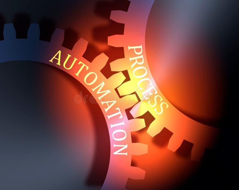 Texte de processus et d'automation sur les vitesses illustration stock