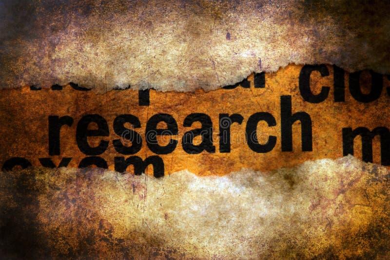 Texte de recherches sur la machine à écrire illustration stock