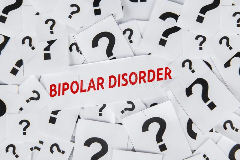 Texte de trouble bipolaire avec des points d'interrogation illustration de vecteur