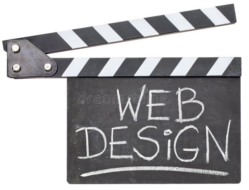 Texte de web design sur le bardeau images stock
