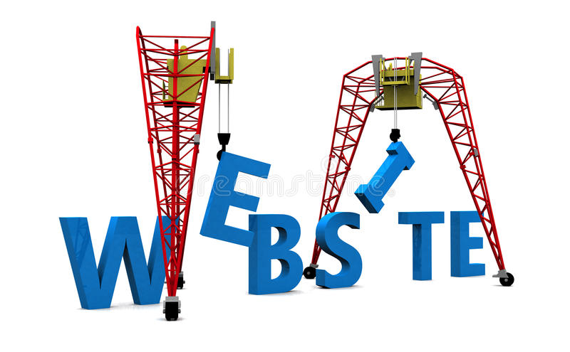 Texte du site Web 3D de construction illustration de vecteur