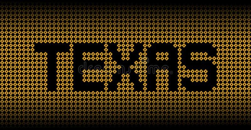 Texte du Texas sur l'illustration de panneaux d'avertissement d'ouragan illustration libre de droits