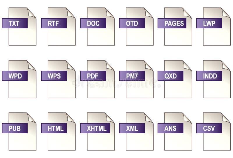 Texte, graphismes de édition, EPS+JPG illustration libre de droits