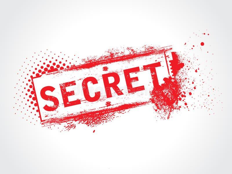 Texte grunge secret illustration stock