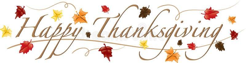 Texte heureux de thanksgiving illustration stock