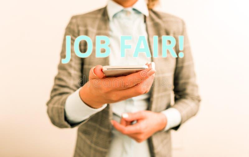 Texte Job Fair d'?criture de Word Concept d'affaires pour l'?v?nement dans quels recruteurs d'employeurs fournissent l'informatio photo libre de droits