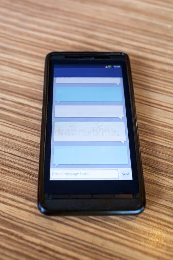 Texte Messanging de téléphone portable photo libre de droits
