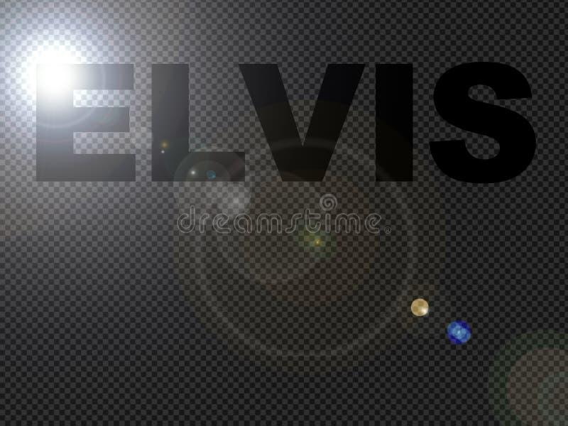 Texte pointillé de signe d'Elvis de lumières illustration libre de droits