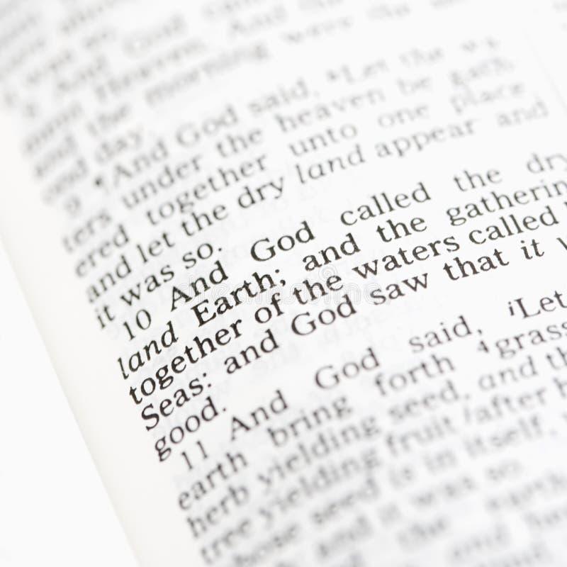 Texte religieux. image stock