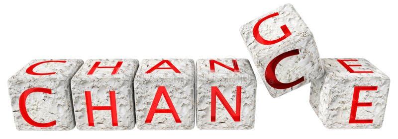 Texte rouge de matrices de hard rock d'occasion de changement - rendu 3d illustration libre de droits