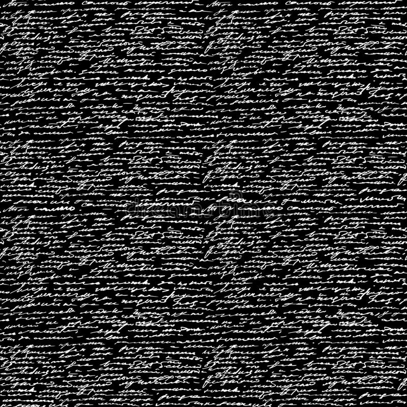 Texte sans couture d'écriture illustration stock