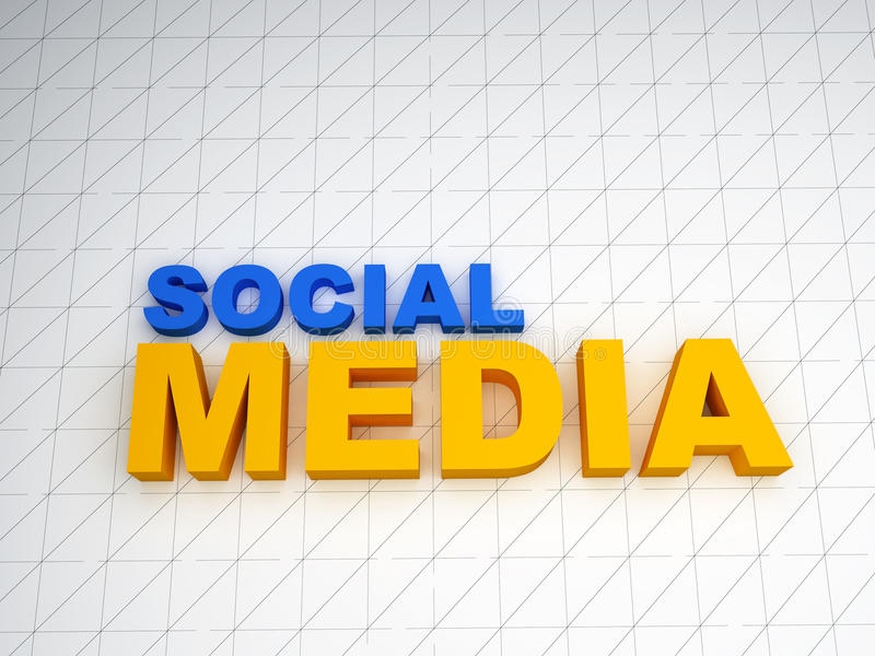 texte social des medias 3d illustration libre de droits
