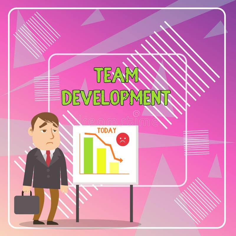 Texte Team Development d'?criture de Word Le concept d'affaires pour apprennent pourquoi et comment les petits groupes changent a illustration de vecteur