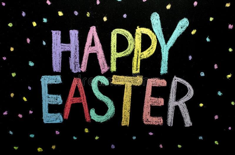"""Texte tiré par la main """"Joyeuses Pâques """"sur le tableau images stock"""