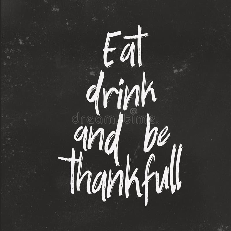 Texte tiré par la main pour la carte de thanksgiving Conception de thanksgiving pour la carte de voeux, affiche photos libres de droits