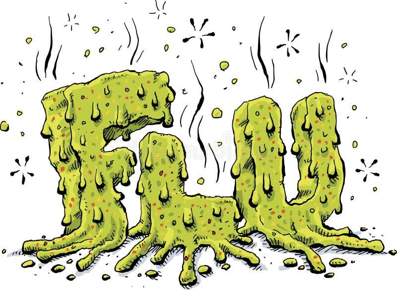 Texte vert de grippe illustration libre de droits