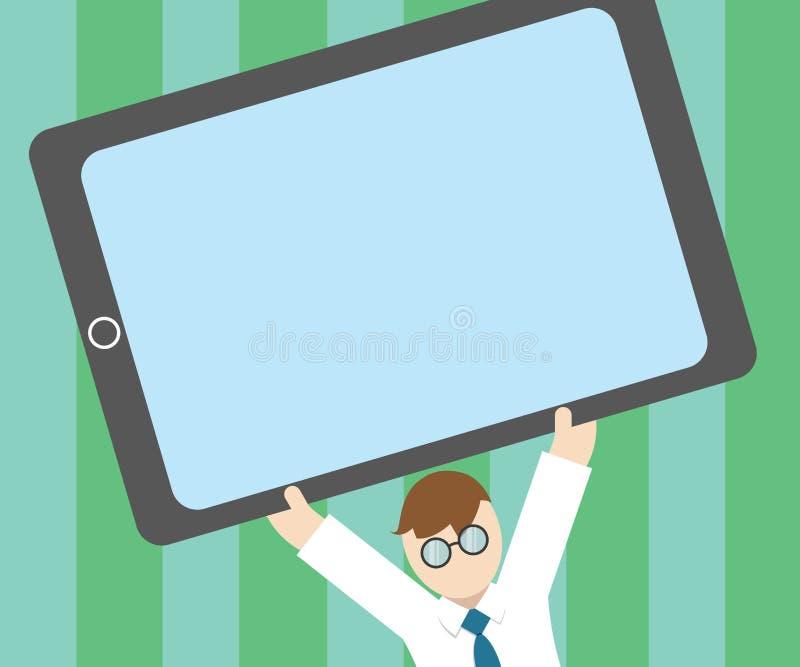 Texte vide de l'espace de copie de calibre de conception d'affaires de vecteur de concept plat d'illustration pour le site Web en illustration libre de droits