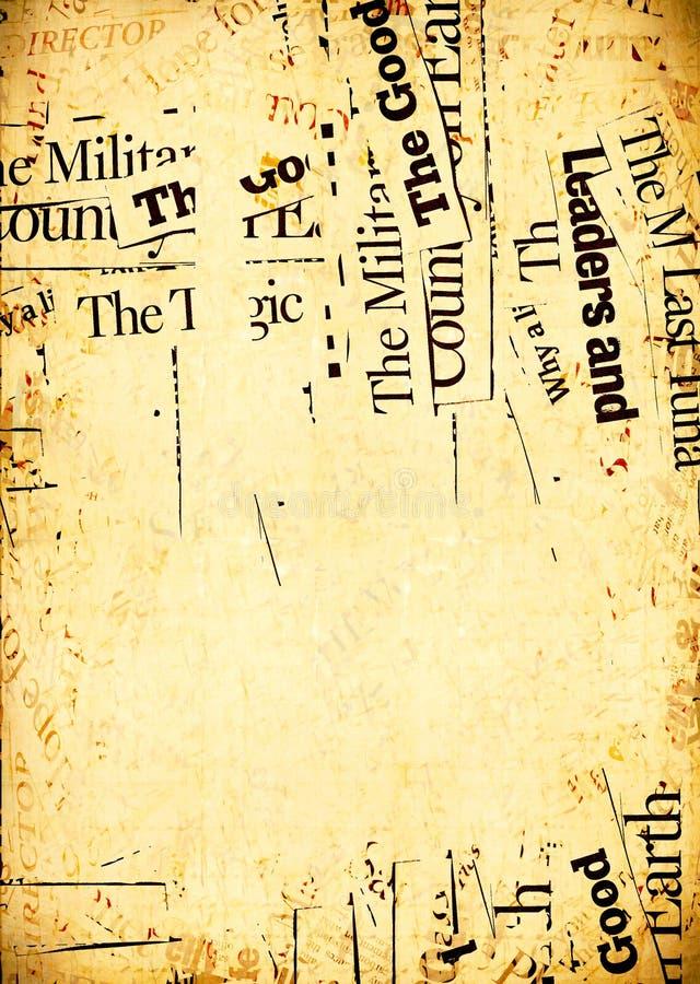 Textes de papier de nouvelles photos libres de droits