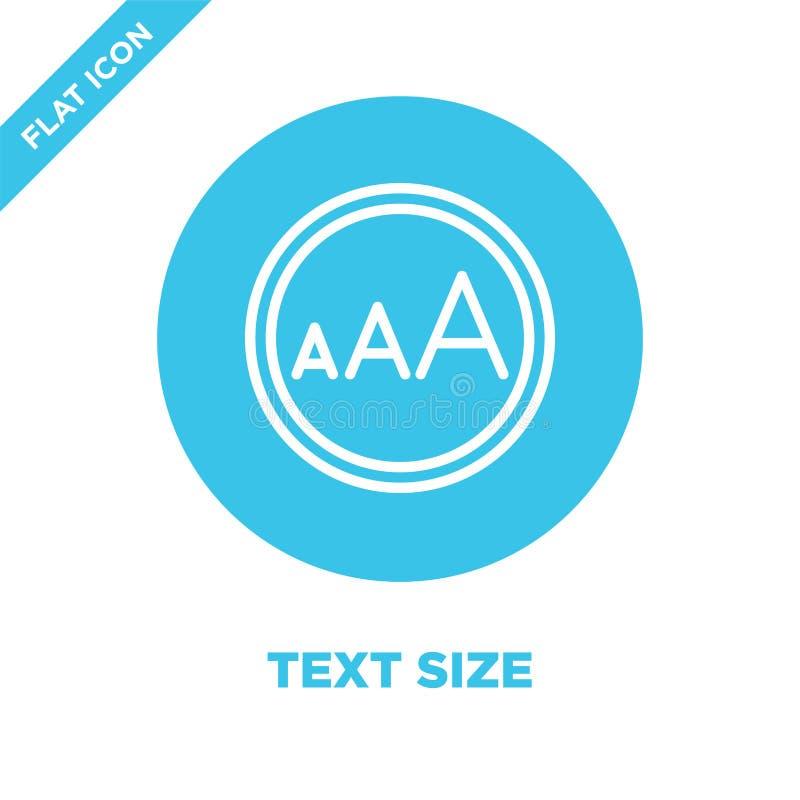 Textgrößen-Ikonenvektor von der Zugänglichkeitssammlung Dünne Linie Textgrößenentwurfsikonen-Vektorillustration r stock abbildung