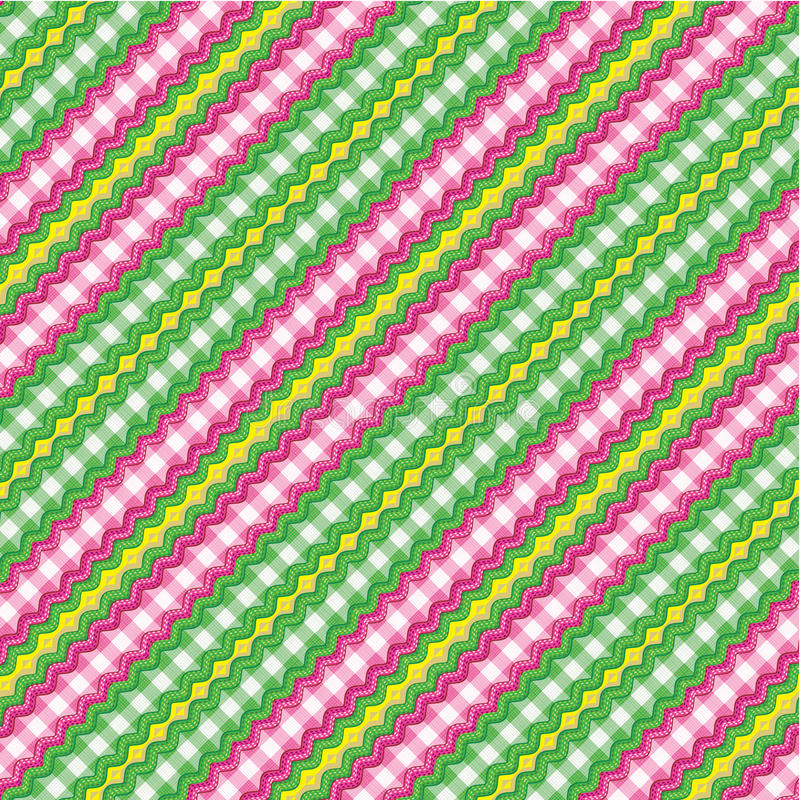 Textiel achtergrond, naadloos inbegrepen patroon vector illustratie