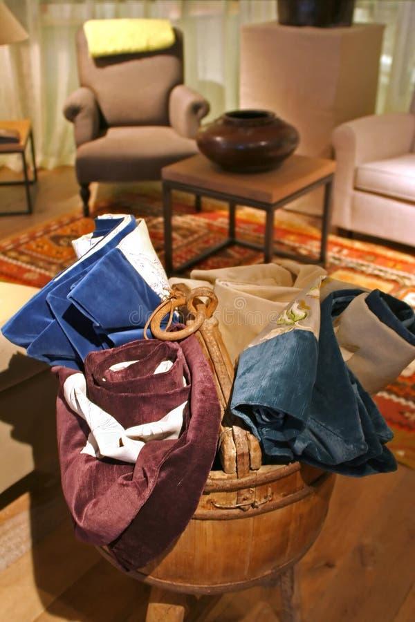 Textiel assortiment stock foto