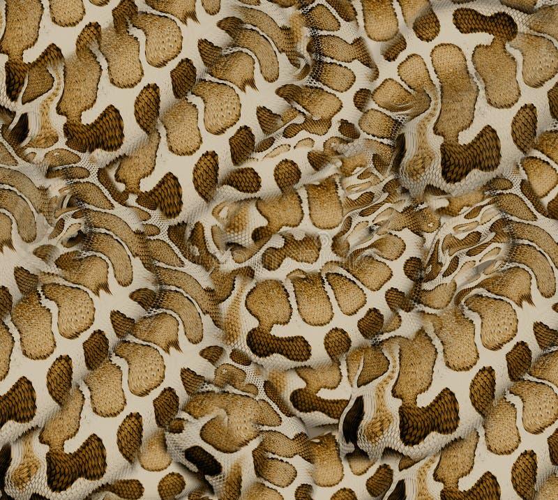 Textiel de drukachtergrond van de slanghuid stock foto