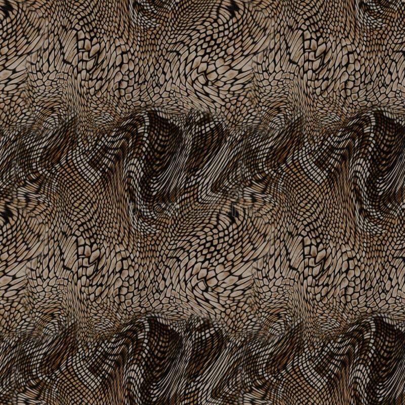 Textiel de drukachtergrond van de slanghuid stock afbeeldingen