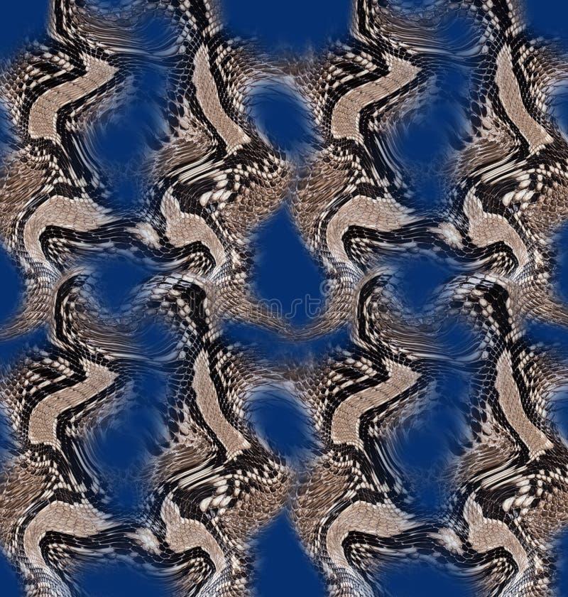 Textiel de drukachtergrond van de slanghuid stock fotografie