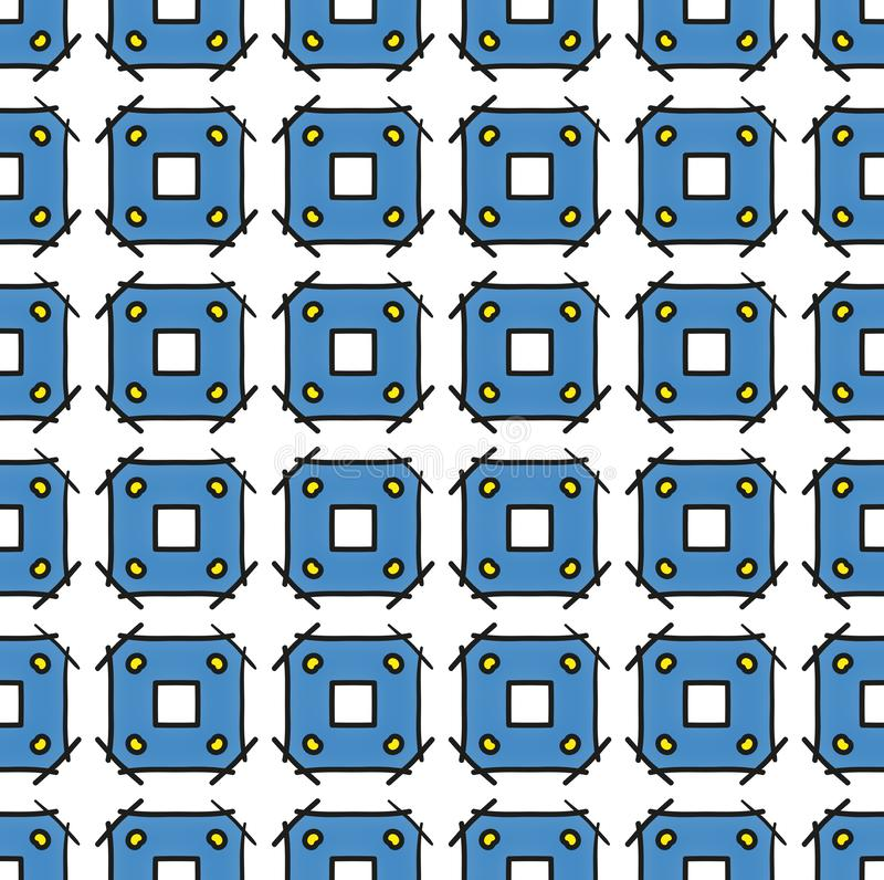 Textiel en document vierkant blauw patroon royalty-vrije stock fotografie