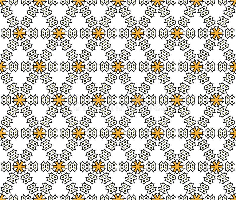 Textiel en hexagonaal document krabbelpatroon royalty-vrije stock foto's