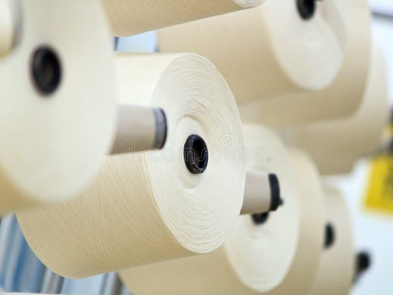 Textiel fabriek stock foto