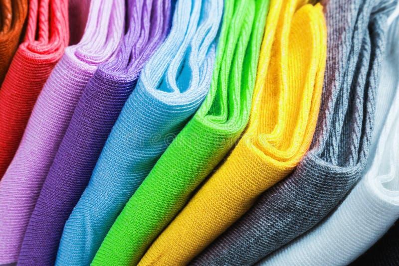 Textiel kleurrijke sokken royalty-vrije stock foto's