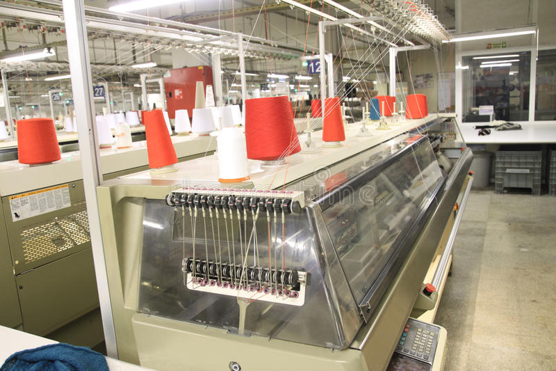 Textiel Machines stock fotografie
