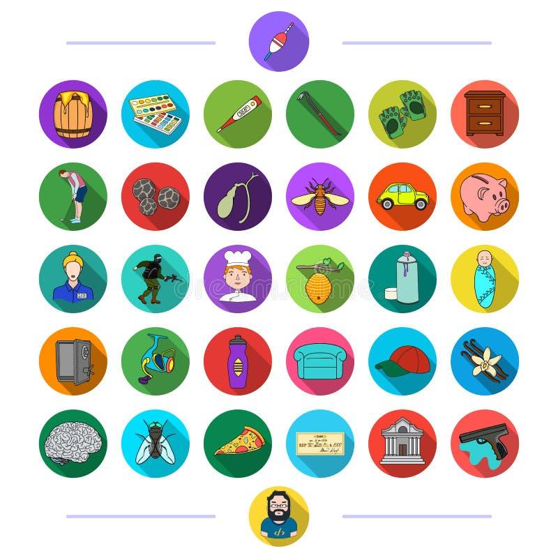 Textiel, sporten, bank en ander Webpictogram in vlakke stijl afval, zaken, geneeskunde, pictogrammen in vastgestelde inzameling vector illustratie
