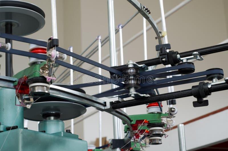 Textiel wevende vervaardigingsmachine royalty-vrije stock foto's