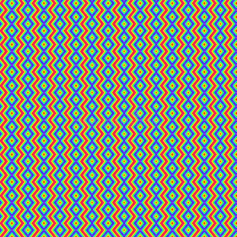 Textielpatroon in oranje tinten vector illustratie