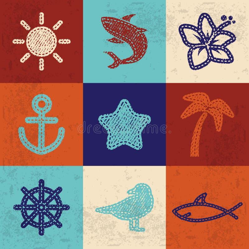 Textielpictogrammen royalty-vrije illustratie