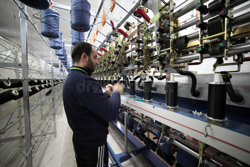 Textielstof Ä°n Turkije stock afbeelding