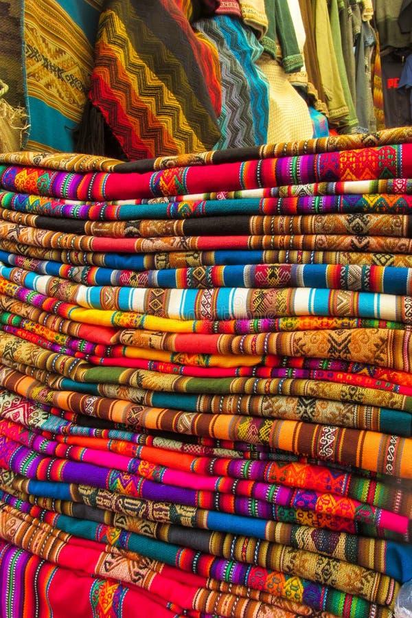 Textil en Perú imagen de archivo libre de regalías