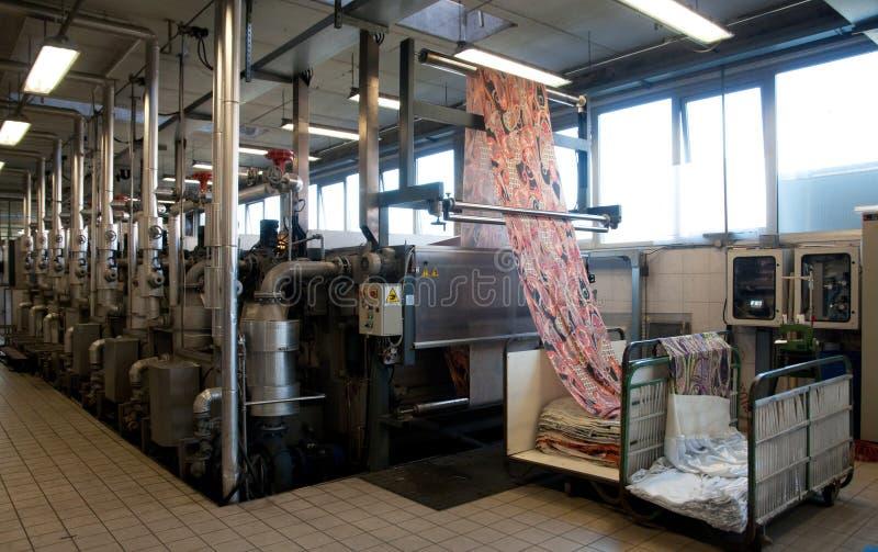 textil för industriväxtprinting royaltyfria foton