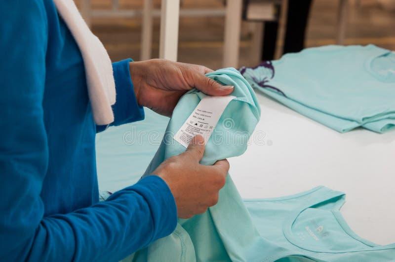 Textil- och plaggfabrik royaltyfria bilder