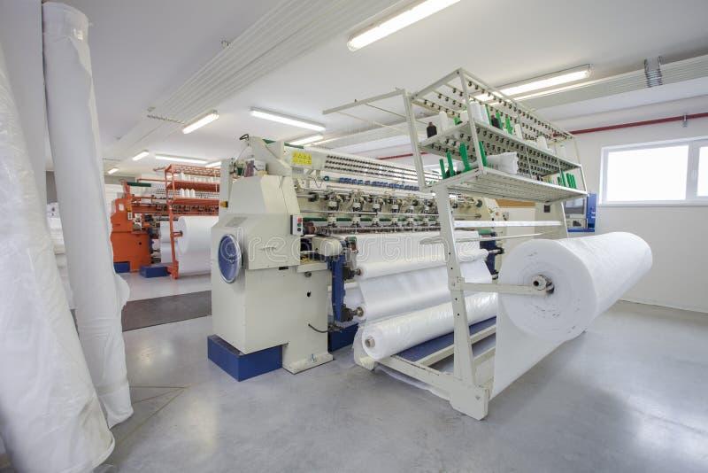 Textil- och tygfabrik arkivbild