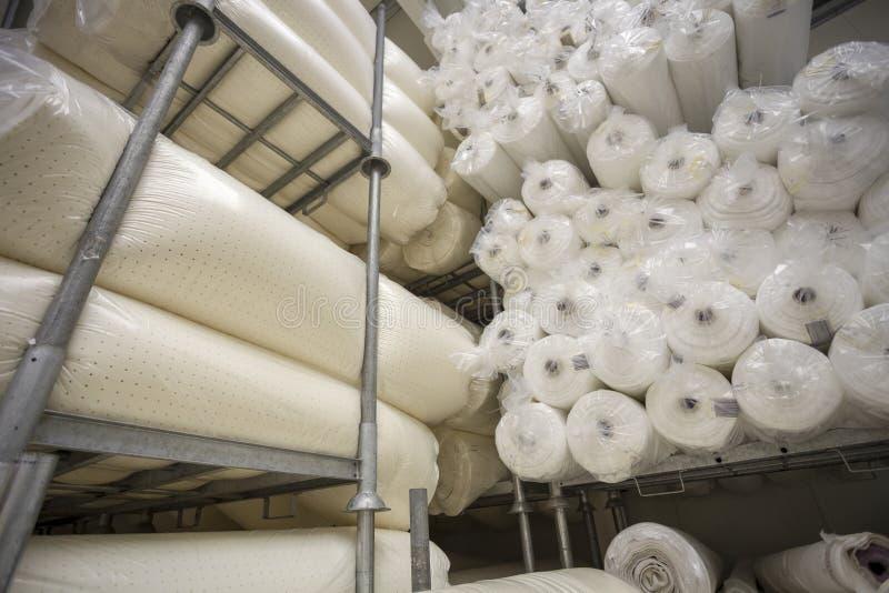 Textil- och tygfabrik royaltyfria foton