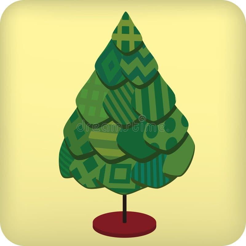 Textil tree (vektorn) royaltyfri bild