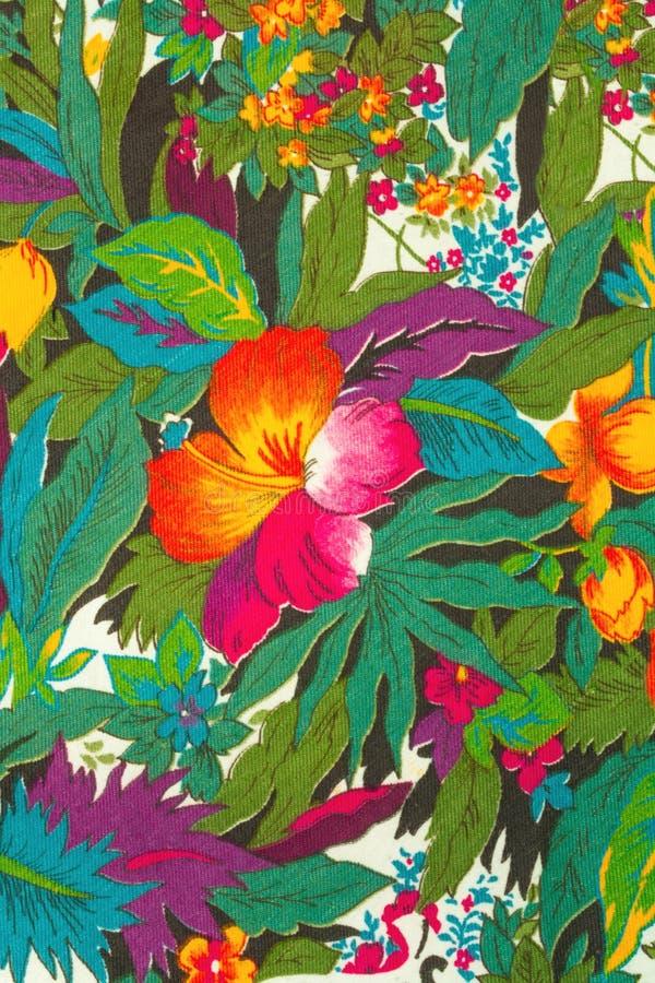 Textil tropiska blommor fotografering för bildbyråer